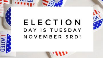 Vote Tuesday November 3rd!
