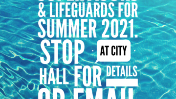 Now Hiring Pool Supervisors & Lifeguards for 2021!